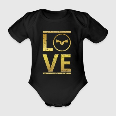 love calling profi king master weapon sheriff weap - Organic Short-sleeved Baby Bodysuit
