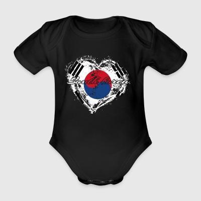 HOME ROOTS COUNTRY POISON LOVE South Korea - Organic Short-sleeved Baby Bodysuit