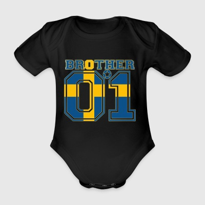 brother brother brother 01 partner Sweden - Organic Short-sleeved Baby Bodysuit