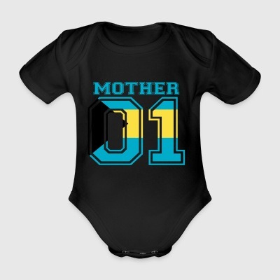 MUTTER MAMA 01 MOTHER QUEEN Bahamas - Baby Bio-Kurzarm-Body