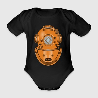diving helmet - Organic Short-sleeved Baby Bodysuit