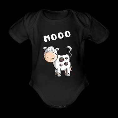 Little Mooo Cow - Vaches - Comic - Body bébé bio manches courtes