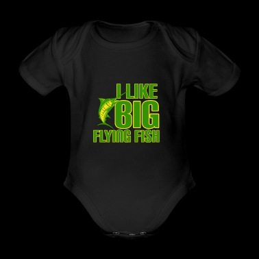 fishing fisher sea boat relax fish angel fisherman - Organic Short-sleeved Baby Bodysuit
