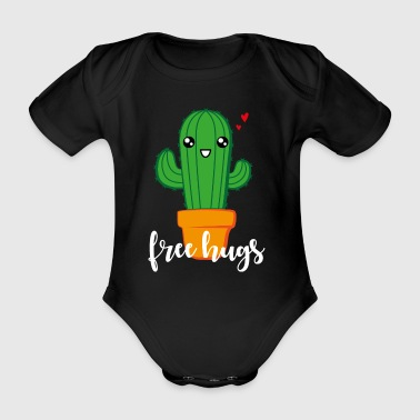 free hugs (white) - Organic Short-sleeved Baby Bodysuit