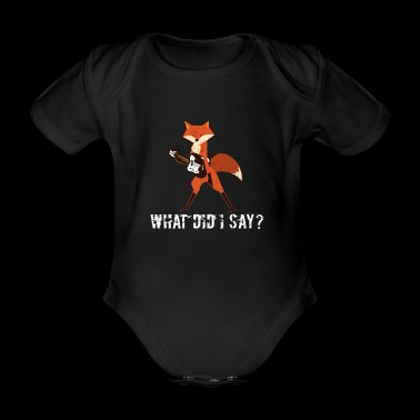 Funny fox Fox plays guitar musician gift - Organic Short-sleeved Baby Bodysuit