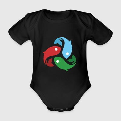 They fished fish - Organic Short-sleeved Baby Bodysuit