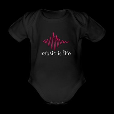 Music is life with heartbeat - Organic Short-sleeved Baby Bodysuit