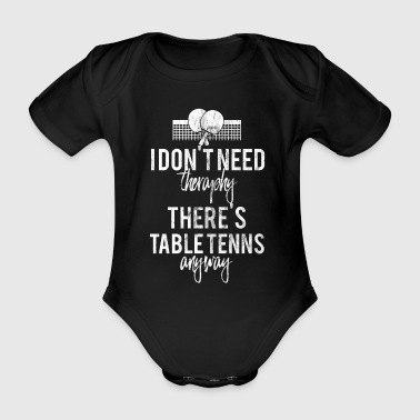 Table Tennis - Vintage Knitted - Gift - Therapy - Organic Short-sleeved Baby Bodysuit