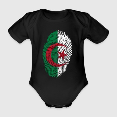 Fingerprint i love roots algeria algeria - Organic Short-sleeved Baby Bodysuit