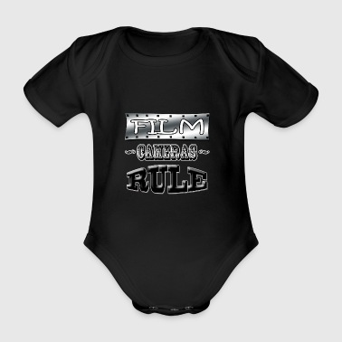 film cameras rule - Organic Short-sleeved Baby Bodysuit
