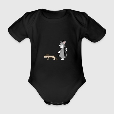 Dog Walking - Organic Short-sleeved Baby Bodysuit