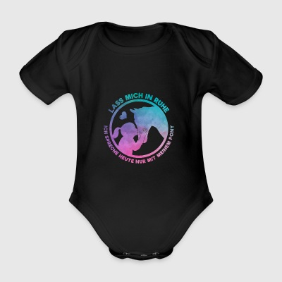 Horse Lover Horsewoman Loves Her Pony Gift - Organic Short-sleeved Baby Bodysuit