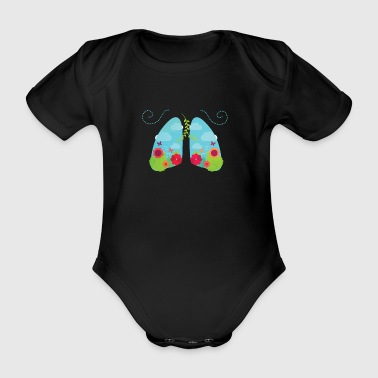 Non smoking - Organic Short-sleeved Baby Bodysuit