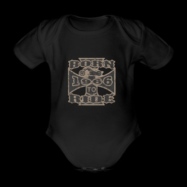 born to ride motorcycle biker 1966 - Organic Short-sleeved Baby Bodysuit