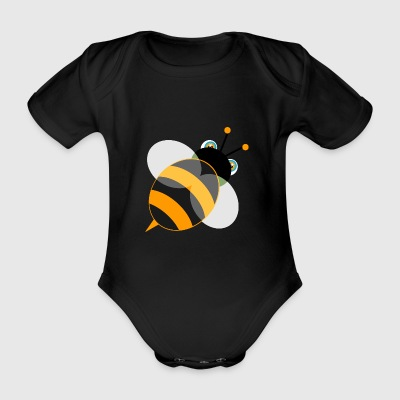 bee - Organic Short-sleeved Baby Bodysuit