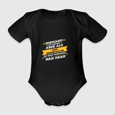 Sports scientist occupation gift - Organic Short-sleeved Baby Bodysuit