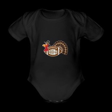 Truthahn Football Thanksgiving Erntedank - Baby Bio-Kurzarm-Body