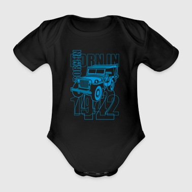 altgedienter Jeep - Born in 1942 - Baby Bio-Kurzarm-Body