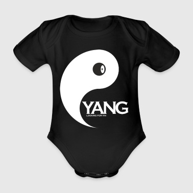 YANG is looking for YIN, where is my partner - Organic Short-sleeved Baby Bodysuit