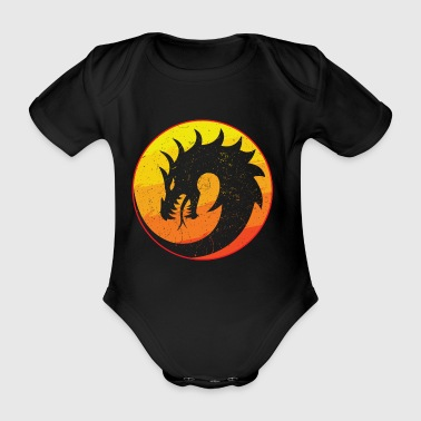 Flaming Dragon Retro - Vauvan lyhythihainen luomu-body