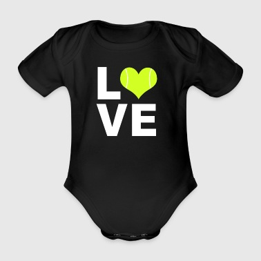 Tennis Love Tennis Love T-Shirt Gift - Organic Short-sleeved Baby Bodysuit