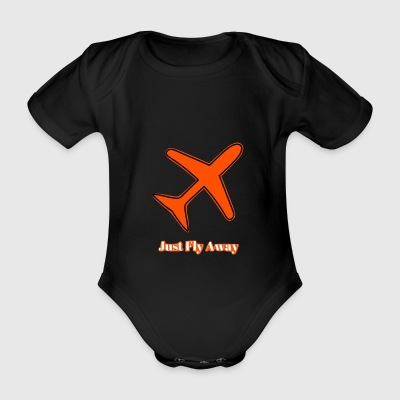 Just Fly Away - Baby bio-rompertje met korte mouwen