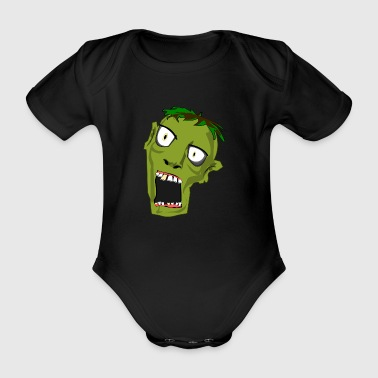ANGRY ZOMBIE - Organic Short-sleeved Baby Bodysuit