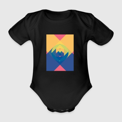 square and shadow - Organic Short-sleeved Baby Bodysuit