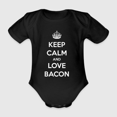 Bacon / bacon / ham / gift - Organic Short-sleeved Baby Bodysuit