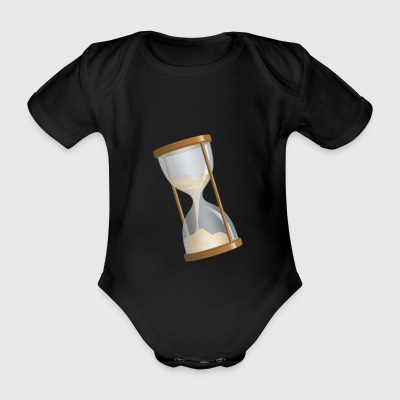 Hourglass oblique - Organic Short-sleeved Baby Bodysuit