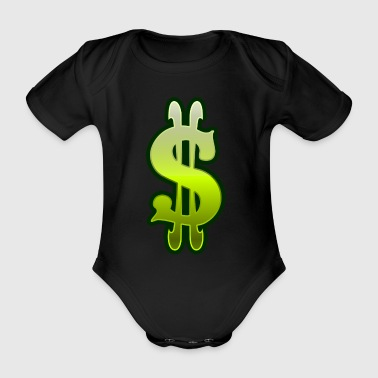 Dollar sign dollar money - Organic Short-sleeved Baby Bodysuit