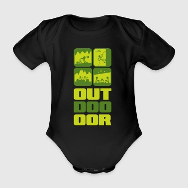 Outdoor - Baby Bio-Kurzarm-Body