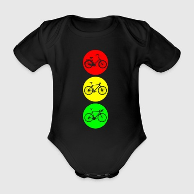 Bicycle traffic lights - Organic Short-sleeved Baby Bodysuit