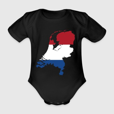 Holland Flagge - Baby Bio-Kurzarm-Body
