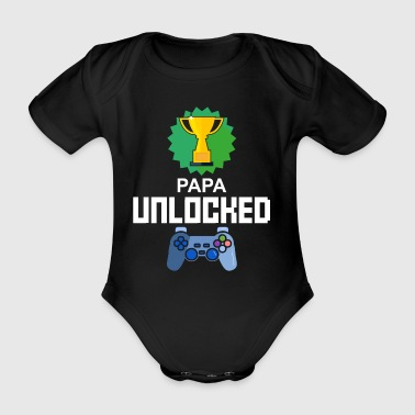 Level Unlocked Gamer Dad Gift van de Vader Gaming - Baby bio-rompertje met korte mouwen