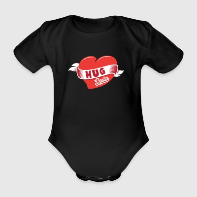 Hug dealer hug love heart friendship arms - Organic Short-sleeved Baby Bodysuit