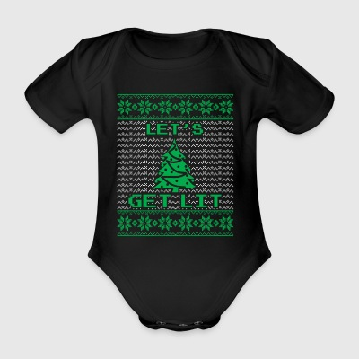 lets get lit christmas tree funny holiday gift - Baby Bio-Kurzarm-Body