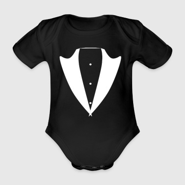 Tuxedo Tie tux black Suit JGA Smoking cool Shirt - Organic Short-sleeved Baby Bodysuit