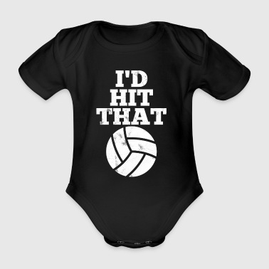 Volleyball - beachball - gift - Organic Short-sleeved Baby Bodysuit