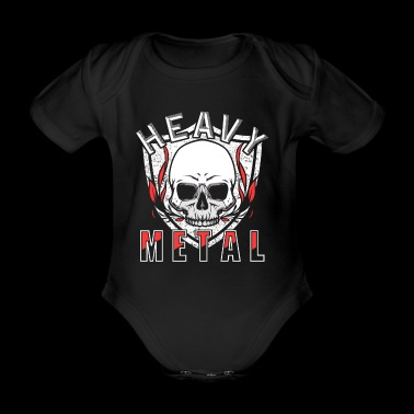 Heavy Metal - Organic Short-sleeved Baby Bodysuit