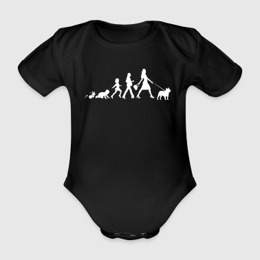 French Bulldog Gifts Grow Evolution Woman - Organic Short-sleeved Baby Bodysuit