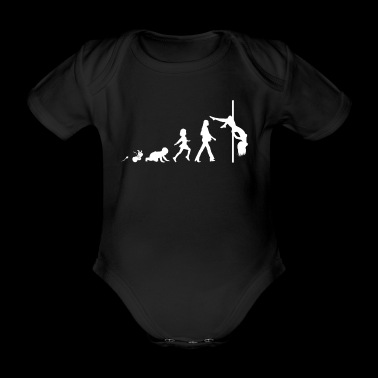 Pole Dance Fun Shirt Gifts Grow Evolution - Organic Short-sleeved Baby Bodysuit