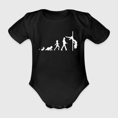 Pole Dance Fun Shirt Geschenke Grow Evolution - Baby Bio-Kurzarm-Body