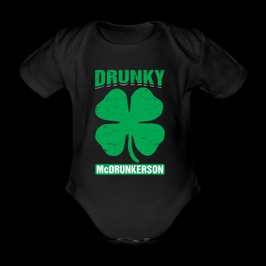 Drunky Mcdrunkerson Funny St Patricks Day Drinking - Organic Short-sleeved Baby Bodysuit