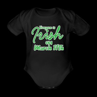 St Patricks Day - Irish - 17. März - Fun Geschenk - Baby Bio-Kurzarm-Body