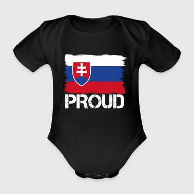 Pride flag flag home origin Slovakia png - Organic Short-sleeved Baby Bodysuit