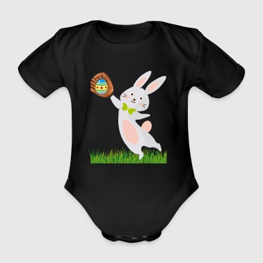 Happy Easter Easter Bunny Baseball Softball T-Shirt - Organic Short-sleeved Baby Bodysuit