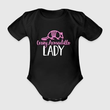 Crazy Armadillo Lady T-skjorte - Cute Armour Shell - Økologisk kortermet baby-body