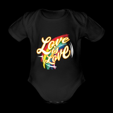 CSD T-Shirt love is love - Baby Bio-Kurzarm-Body