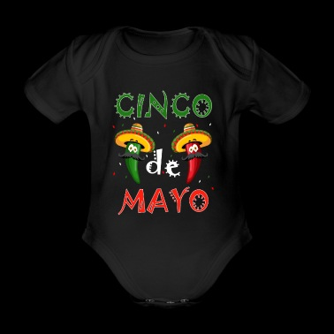 CInco de Mayo Party T-Shirt Cool Funny Fiesta Gift - Organic Short-sleeved Baby Bodysuit
